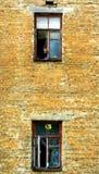 Façade van een oud gebouw in Kiev Architectuur van de moderne Oekraïne royalty-vrije stock foto