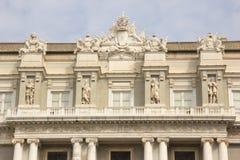 Façade van Palazzo Ducale in Genua royalty-vrije stock afbeelding