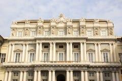 Façade van Palazzo Ducale in Genua royalty-vrije stock foto's