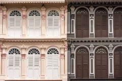 Façade, пинк и коричневый цвет здания 2 тонов Стоковые Фото