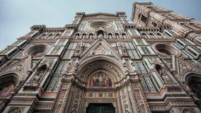 Façade av den Florence domkyrkan royaltyfri foto