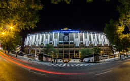 Façade d'avant de Santiago Bernabéu Photo libre de droits