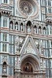 Façade de la catedral de Florencia imagen de archivo