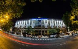 Façade della parte anteriore di Santiago Bernabéu Fotografia Stock Libera da Diritti