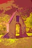 Façade eines barocken Klosters im Infrarotlicht Lizenzfreie Stockbilder