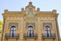 Façade principal del viejo matadero en Sevilla, España Foto de archivo