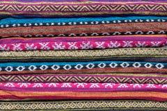 Fałdowi kolorowi wzorzyści scarves zdjęcia royalty free