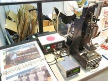 faça à máquina no metallex 2014 Fotografia de Stock