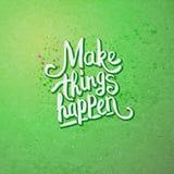 Faça coisas acontecer conceito na luz - verde Imagens de Stock Royalty Free