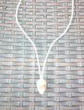 Faça a colar com shell fotografia de stock royalty free