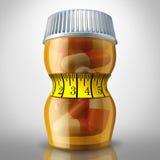 Faça dieta comprimidos ilustração royalty free