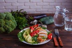 Faça dieta o conceito, estilo de vida saudável, baixo - alimento dietético da caloria coza imagens de stock