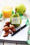 Faça dieta o diário Imagens de Stock Royalty Free