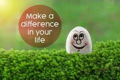 Faça a diferença em sua vida imagens de stock royalty free