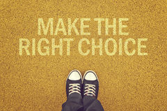 Faça a escolha direita Imagem de Stock Royalty Free