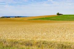 Faça feno a paisagem ao longo da estrada turística Romantische Strasse, Alemanha imagens de stock royalty free