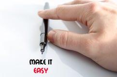 Faça-lhe o conceito fácil do texto Fotos de Stock Royalty Free