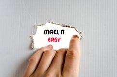 Faça-lhe o conceito fácil do texto Fotografia de Stock Royalty Free