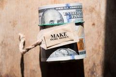 Faça mais dinheiro foto de stock royalty free