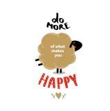Faça mais do que o faz feliz fotografia de stock