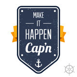 Faça-o acontecer, Capn ilustração stock