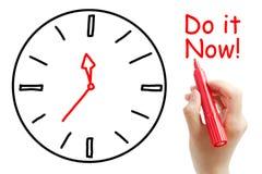 Faça-o agora! Foto de Stock Royalty Free
