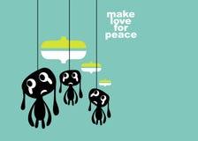 Faça o amor para a paz ilustração stock
