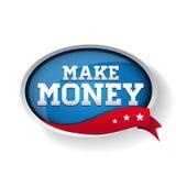 Faça o botão do azul do dinheiro ilustração royalty free