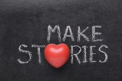 Faça o coração das histórias fotos de stock royalty free