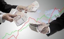Faça o dinheiro da bolsa de valores fotografia de stock royalty free