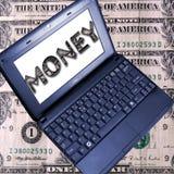 Faça o dinheiro em linha Imagem de Stock Royalty Free