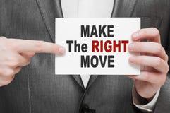 Faça o movimento direito Fotografia de Stock Royalty Free