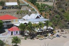 Faça o restaurante de Brasil em Shell Beach em St Barts Imagens de Stock Royalty Free