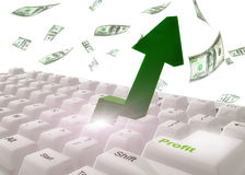 Faça o símbolo do teclado do dinheiro Imagens de Stock