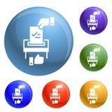 Faça o vetor bem escolhido político do grupo dos ícones ilustração do vetor