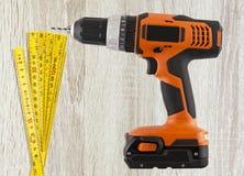 Faça-o você mesmo, ferramentas do reparo da construção Fotografia de Stock Royalty Free