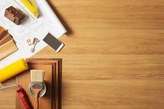 Faça-o você mesmo remodelação da casa imagens de stock
