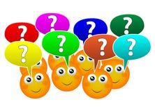 Faça perguntas ilustração royalty free