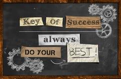 Faça seu melhor - chave do sucesso ilustração royalty free