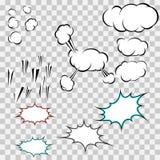 Faça seu próprio bloco das nuvens da explosão Fotos de Stock Royalty Free