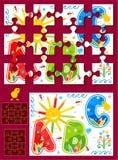 Faça seu próprio jogo do enigma de serra de vaivém Fotografia de Stock Royalty Free