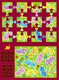 Faça seu próprio jogo do enigma de serra de vaivém Imagens de Stock