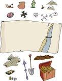 Faça seu próprio mapa do tesouro Fotografia de Stock Royalty Free