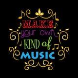 Faça seu próprio tipo da música ilustração royalty free