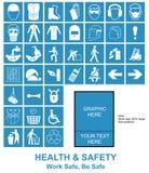 Faça seus próprios sinais de saúde e de segurança Foto de Stock Royalty Free