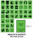 Faça seus próprios sinais de saúde e de segurança Imagens de Stock Royalty Free