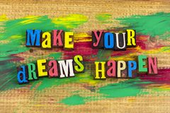 Faça seus sonhos acontecer imaginação Fotografia de Stock Royalty Free