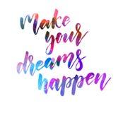 Faça seus sonhos acontecer ilustração royalty free
