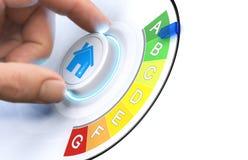 Faça sua casa mais energia eficiente imagens de stock