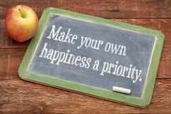 Faça sua própria prioridade da felicidade fotos de stock